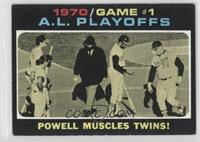 1970/Game #1 A.L. Playoffs: Powell Muscles Twins! [GoodtoVG‑E…