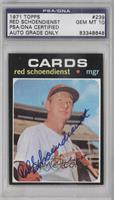 Red Schoendienst [PSA/DNA Certified Auto]