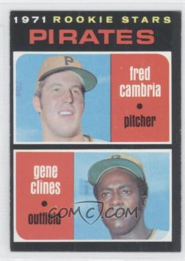 1971 Topps #27 - Fred Cambria, Gene Clines