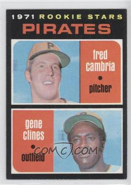 1971 Topps #27 - Pirates Rookie Stars (Fred Cambria, Gene Clines)