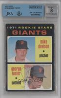 Rookie Stars Giants (Mike Davison, George Foster) [BVG/JSACertified…