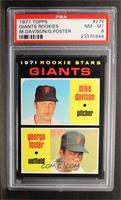 Rookie Stars Giants (Mike Davison, George Foster) [PSA8]