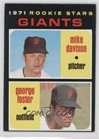 Rookie Stars Giants (Mike Davison, George Foster)