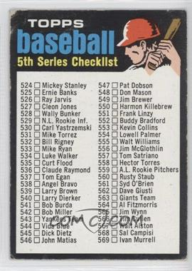 1971 Topps #499 - 5th Series Checklist
