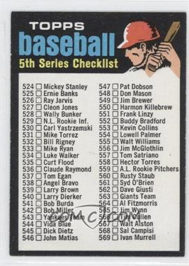 1971 Topps #499 - 5th Series Checklist