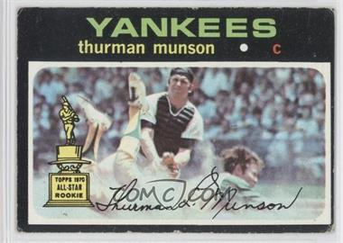 1971 Topps #5 - Thurman Munson [Good to VG‑EX]