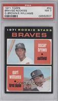 Braves Rookie Stars (Oscar Brown, Earl Williams) [PSA 7]