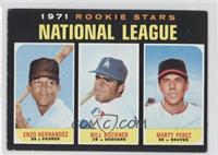 Enzo Hernandez, Marty Perez, Bill Buckner [Good to VG‑EX]