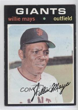 1971 Topps #600 - Willie Mays