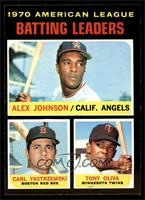 AL Batting Leaders (Alex Johnson, Carl Yastrzemski, Tony Oliva) [EX MT]