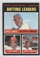 NL Batting Leaders (Rico Carty, Joe Torre, Manny Sanguillen)