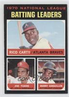 NL Batting Leaders (Rico Carty, Joe Torre, Manny Sanguillen)