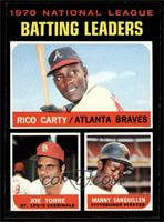 NL Batting Leaders (Rico Carty, Joe Torre, Manny Sanguillen) [NM MT]