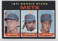 1971 Rookie Stars Mets (Rich Folkers, Ted Martinez, Jon Matlack) [Good to&…
