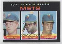 1971 Rookie Stars Mets (Rich Folkers, Ted Martinez, Jon Matlack)