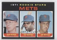 Mets Rookie Stars (Rich Folkers, Ted Martinez, Jon Matlack)