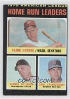 AL Home Run Leaders (Frank Howard, Harmon Killebrew, Carl Yastrzemski)