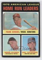 AL Home Run Leaders (Frank Howard, Harmon Killebrew, Carl Yastrzemski) [Good&nb…