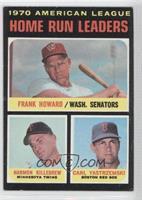 AL Home Run Leaders (Frank Howard, Harmon Killebrew, Carl Yastrzemski)