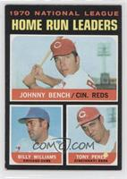 Johnny Bench, Tony Perez, Billy Williams