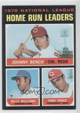 1971 Topps #66 - Johnny Bench, Tony Perez, Billy Williams