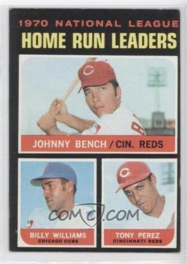 1971 Topps #66 - Johnny Bench, Tony Perez