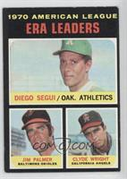American League ERA Leaders (Diego Segui, Jim Palmer, Clyde Wright)