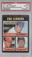 National League ERA Leaders (Tom Seaver, Wayne Simpson, Luke Walker) [PSA …