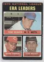 National League ERA Leaders (Tom Seaver, Wayne Simpson, Luke Walker) [Good&nbsp…