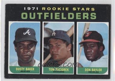 1971 Topps #709 - Dusty Baker, Tom Paciorek, Don Baylor