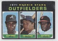 Dusty Baker, Tom Paciorek, Don Baylor [Good to VG‑EX]