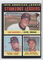 Sam McDowell, Mickey Lolich, Bob Johnson [Good to VG‑EX]