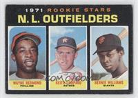 Rookie Stars N.L. Outfielders (Wayne Redmond, Keith Lampard, Bernie Williams) […