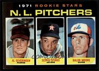 Rookie Stars N.L. Pitchers (Al Severinsen, Scipio Spinks, Balor Moore) [NM&nbsp…