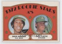 A's Rookie Stars (Dwain Anderson, Chris Floethe)