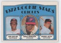Don Baylor, Roric Harrison, Johnny Oates