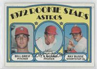 Rookie Stars Astros (Bill Greif, J.R. Richard, Ray Busse)