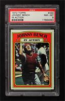 Johnny Bench (In Action) [PSA 8]