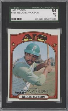 1972 Topps - [Base] #435 - Reggie Jackson [SGC84]