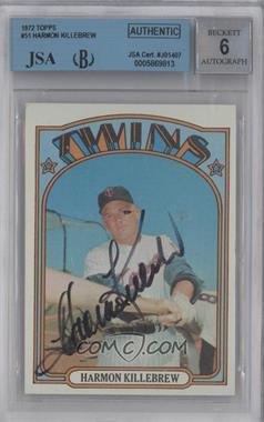 1972 Topps - [Base] #51 - Harmon Killebrew [BGS/JSA Certified Auto]