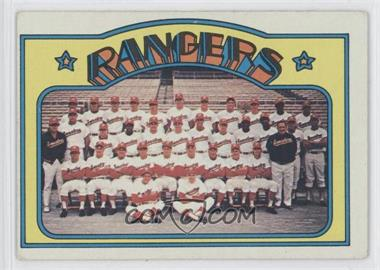 1972 Topps - [Base] #668 - Texas Rangers Team