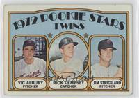 Rookie Stars Twins (Vic Albury, Rick Dempsey, Jim Strickland) [Goodto&nbs…