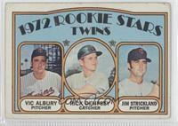 Rookie Stars Twins (Vic Albury, Rick Dempsey, Jim Strickland) [Poor]