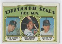 Red Sox Rookie Stars (Mike Garman, Cecil Cooper, Carlton Fisk) [Good to&nb…