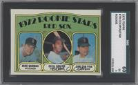 Red Sox Rookie Stars (Mike Garman, Cecil Cooper, Carlton Fisk) [SGC 60]