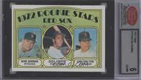 Red Sox Rookie Stars (Mike Garman, Cecil Cooper, Carlton Fisk) [ENCASED]