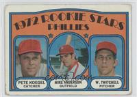 Rookie Stars Phillies (Pete Koegel, Mike Anderson, Wayne Twitchell)