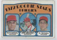 Rookie Stars Phillies (Pete Koegel, Mike Anderson, Wayne Twitchell) [Poor…