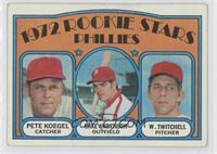 Rookie Stars Phillies (Pete Koegel, Mike Anderson, Wayne Twitchell) [Good…