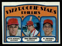 Rookie Stars Phillies (Pete Koegel, Mike Anderson, Wayne Twitchell) [NM MT]